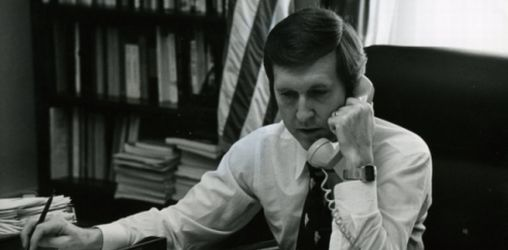 Cohen in his office in 1977