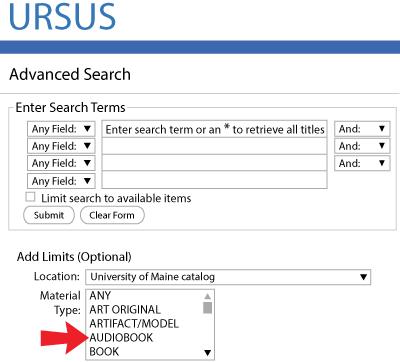Advance Search Screen