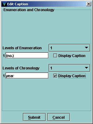 Edit Caption Dialog Box