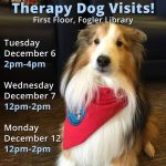Therapy Dog Visits in December at Fogler Library
