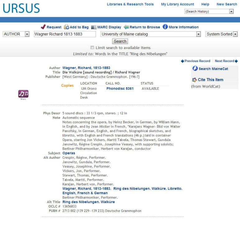 Example of Photodiscs in URSUS