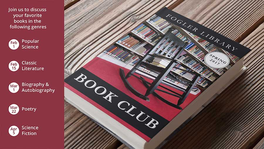2017 Library Book Club Schedule