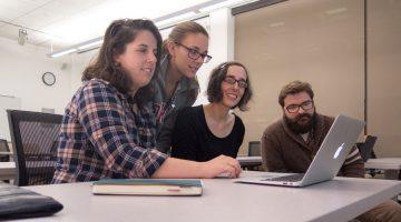 students working in grants workshop