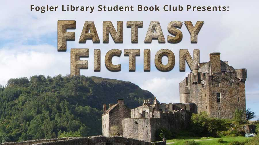 fantasy fiction book club flyer