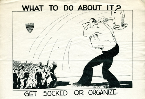 cartoon of labor union archive
