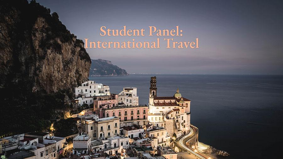 international travel student panel event