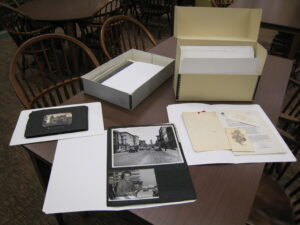 sample manuscript folders in Special Collections