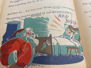 A page from the book Rudolph the Red-Nosed Reindeer